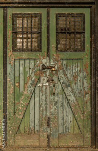 canvas print picture Old wooden doors
