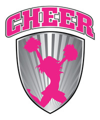 Cheer Design With Shield