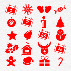 Collection of funny christmas icons