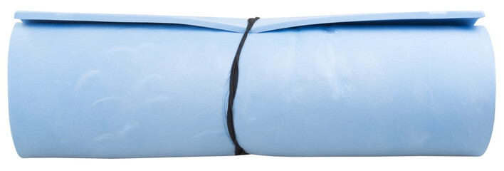 blue mat isolated