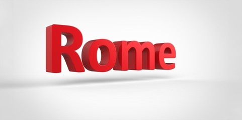 Rome 3D text Illustration of City Name