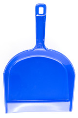 blue dustpan isolated