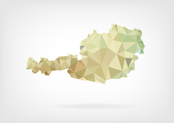 Low Poly map of Austria