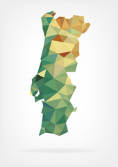 Low Poly map of Portugal