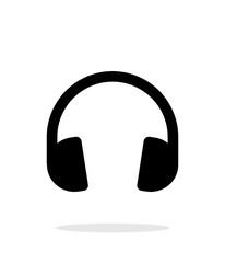 Dj Headphones icon on white background.