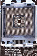 detail of modern computer mainboard (motherboard)