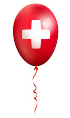 swiss balloon, red cross
