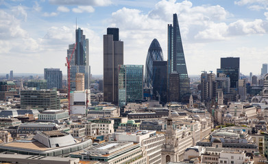 London view. City of London business district