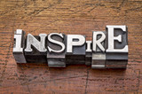 Fototapety inspire word in metal type