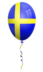sweden balloon, sweden flag