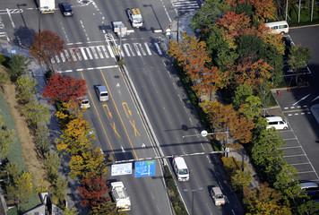 Birdview of street
