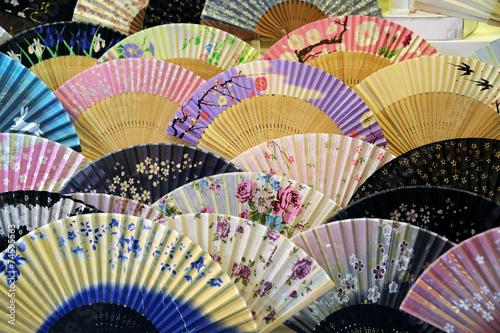 Foto op Canvas Japan Japanese hand fans
