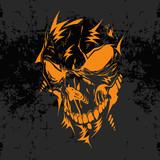 Fototapety Horrible skull illustration