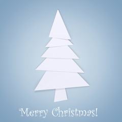 Christmas tree-new year card 3d illustration