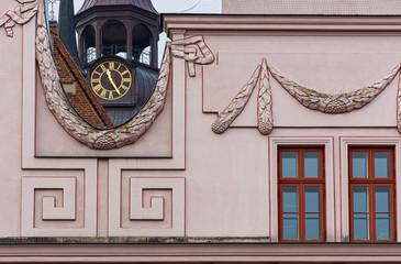Rathaus und Pfarrkirche in Güstrow
