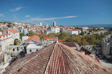 Roofs of Mediterranean city. Split, Croatia