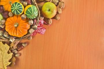 Autumn vegetable background