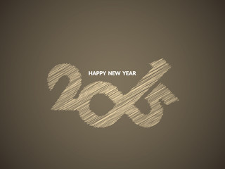 Beautiful happy new year 2015 text design