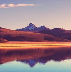 Fototapeta pomarańczowe góry w Boliwii