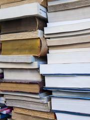 Pile of vintage books