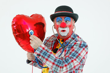 Clown mit Stethoskop