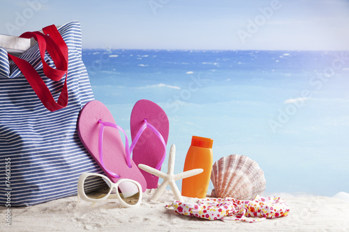 Poster children's beach toys