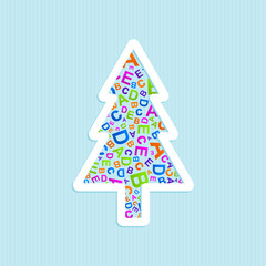 Vector Christmas tree ABC