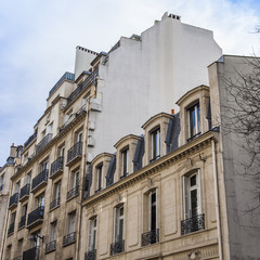 Paris, France, on May 3, 2013. Typical architectural detailes
