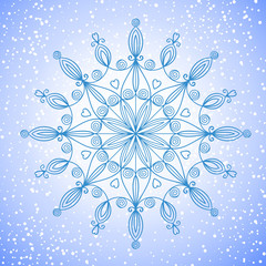 Beautiful vector large snowflake