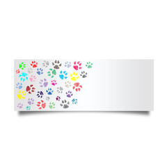 Colorful dog footprint card