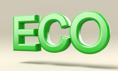 Scritta Eco isolata