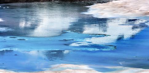 Mount Shuksan Blue Snow Pool Abstract Artist Point Washington US