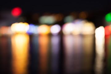 Defocused colored lights