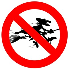 sign forbidden for witches
