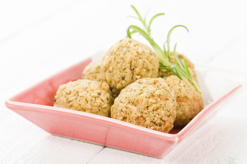 Stuffing - Sage and onion stuffing balls.