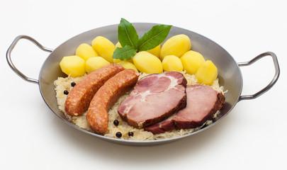Sauerkrautpfanne mit Kasseler
