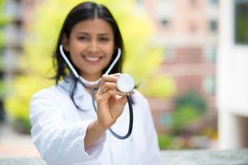 Smiling confident healthcare professional