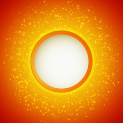 Abstract bright shining background with circle banner