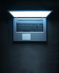 Glowing laptop
