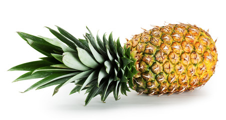 Pineapple lying on its side