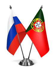 Russia and Portugal - Miniature Flags.
