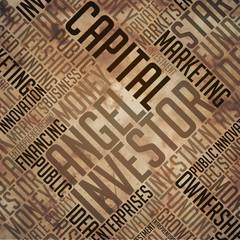 Angel Investor - Grunge Brown Word Collage.