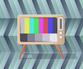 Retro tv artistic