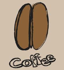 cartoon retro coffee bean