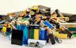 Leinwanddruck Bild - Altbatterien im Haushalt