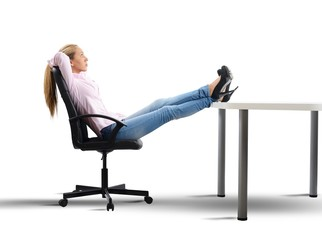 Relax of a businesswoman