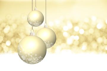 Glitzern, Funkeln und Eiskristalle auf weihnachtlichem Gold