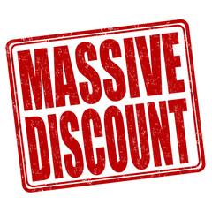 Massive discount stamp
