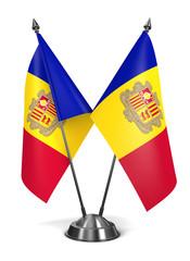 Andorra- Miniature Flags.