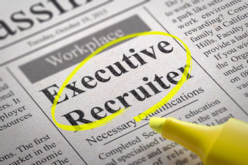 Executive Recruiter Vacancy in Newspaper.